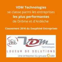 VDM Technologies dans le top classement